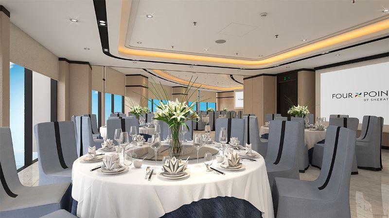 Phòng họp Panorama mang đến tầm nhìn bao quát toàn cảnh biển trời Đà Nẵng.