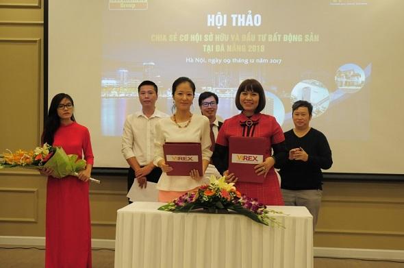 Ký kết thỏa thuận hợp tác giữa Virex (Tổng giám đốc Lê Thị Lan Anh) và đại diện Công ty TNHH đầu tư và thương mại PBF Hàn Quốc, bà Jung So Yun