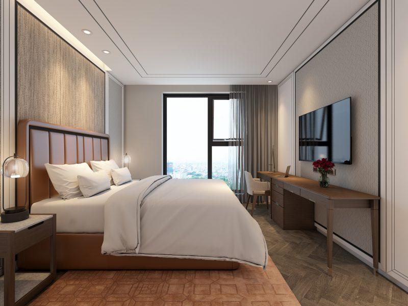 Phòng ngủ được bố trí, sắp xếp hợp lý với tiện nghi đẳng cấp