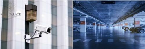 Tầng hầm giữ xe rộng đến 8.000m2 đặt các trạm sạc cho xe ô tô sử dụng động cơ điện.