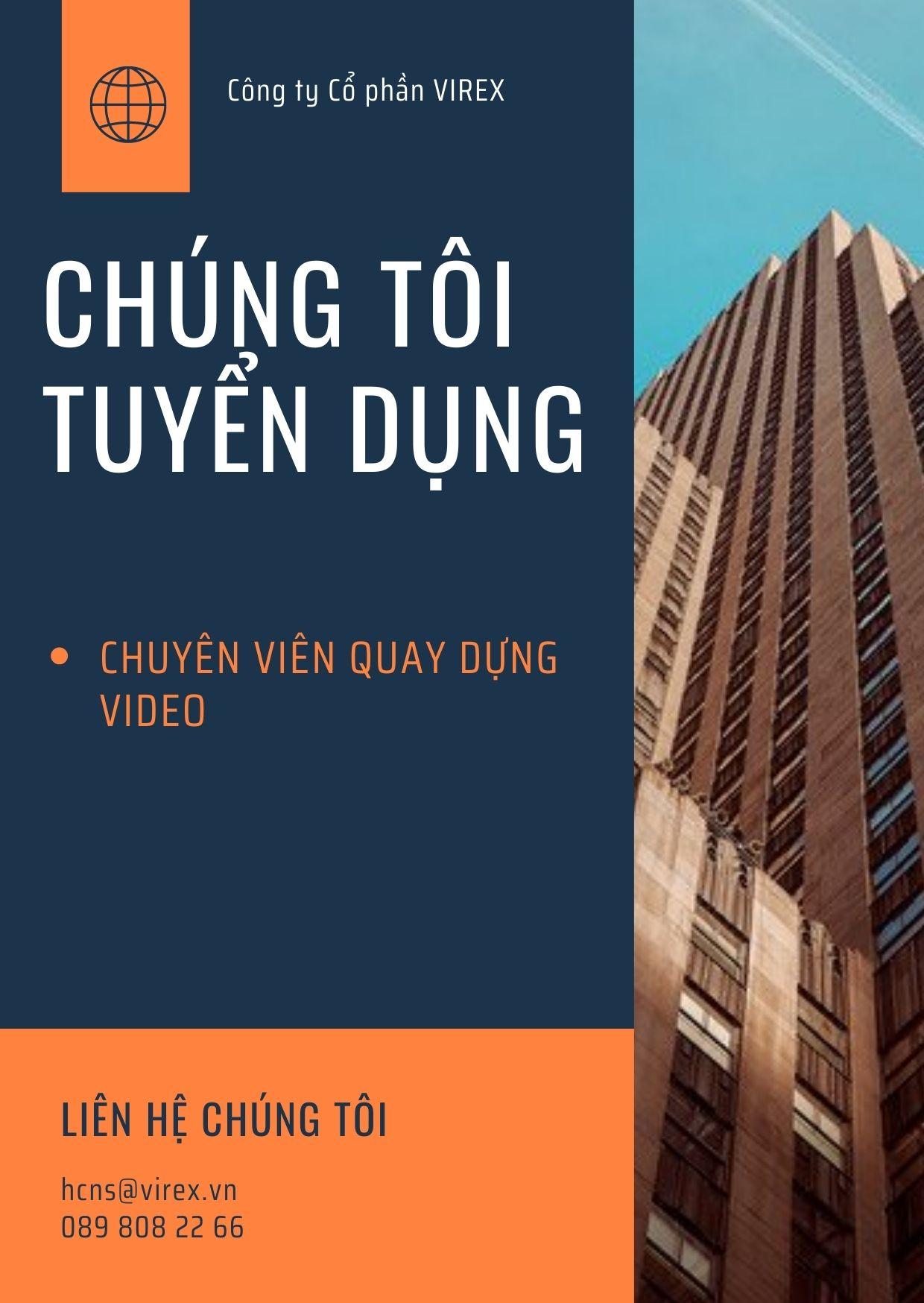 Read more about the article CHUYÊN VIÊN QUAY DỰNG VIDEO